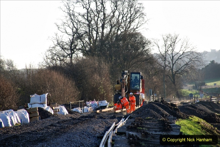 2020-01-10 Track renewal Cowpat Crossing to just beyond Dickers Crossing. (43) Track and drainage work. 043