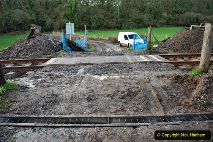 2020-01-17 Track renewal Cowpat Crossing to just past Dickers Crossing. (15) Drainage Work. 15