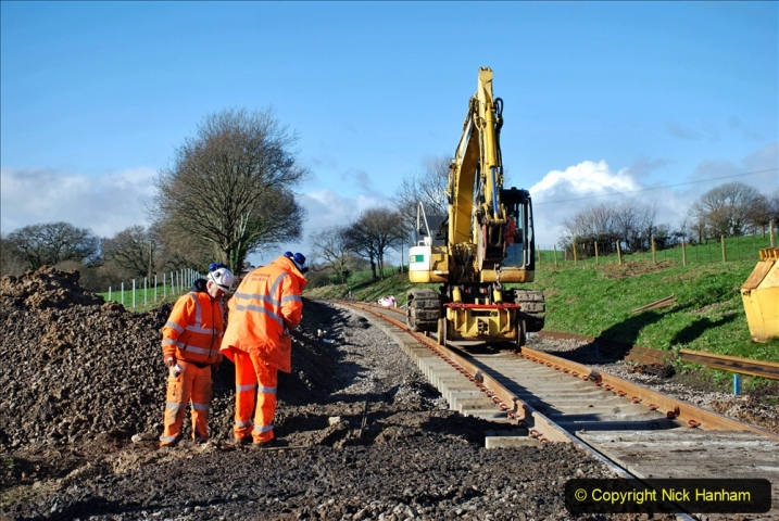 2020-01-17 Track renewal Cowpat Crossing to just past Dickers Crossing. (166) Drainage Work. 166