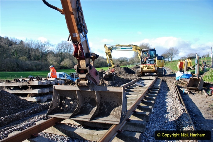 2020-01-17 Track renewal Cowpat Crossing to just past Dickers Crossing. (170) Drainage Work. 170