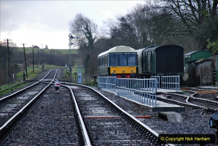 2020-01-17 Track renewal Cowpat Crossing to just past Dickers Crossing. (2) Corfe Castle. 2
