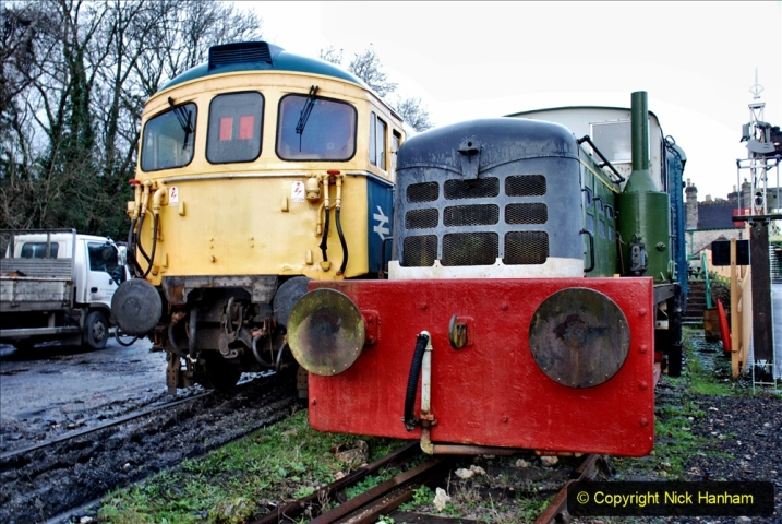 2020-01-17 Track renewal Cowpat Crossing to just past Dickers Crossing. (3) Corfe Castle. 3