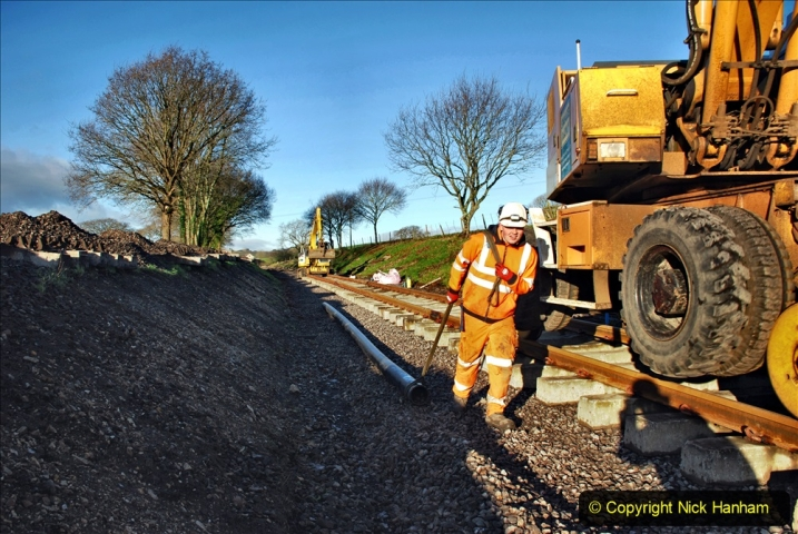 2020-01-17 Track renewal Cowpat Crossing to just past Dickers Crossing. (32) Drainage Work. 32
