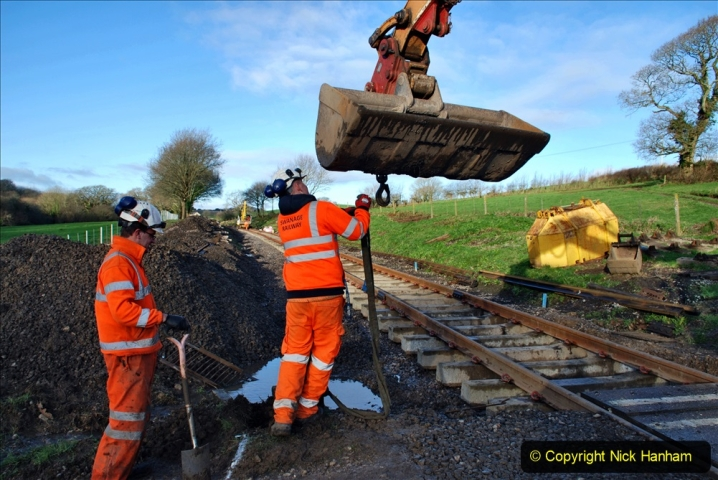 2020-01-17 Track renewal Cowpat Crossing to just past Dickers Crossing. (34) Drainage Work. 34