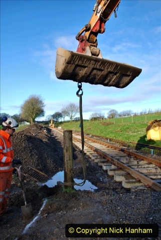 2020-01-17 Track renewal Cowpat Crossing to just past Dickers Crossing. (35) Drainage Work. 35