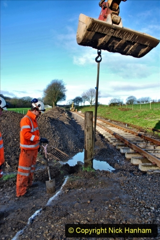 2020-01-17 Track renewal Cowpat Crossing to just past Dickers Crossing. (36) Drainage Work. 36
