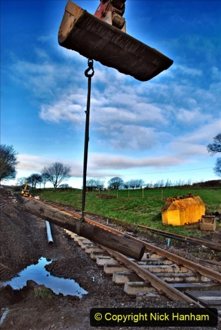 2020-01-17 Track renewal Cowpat Crossing to just past Dickers Crossing. (38) Drainage Work. 38