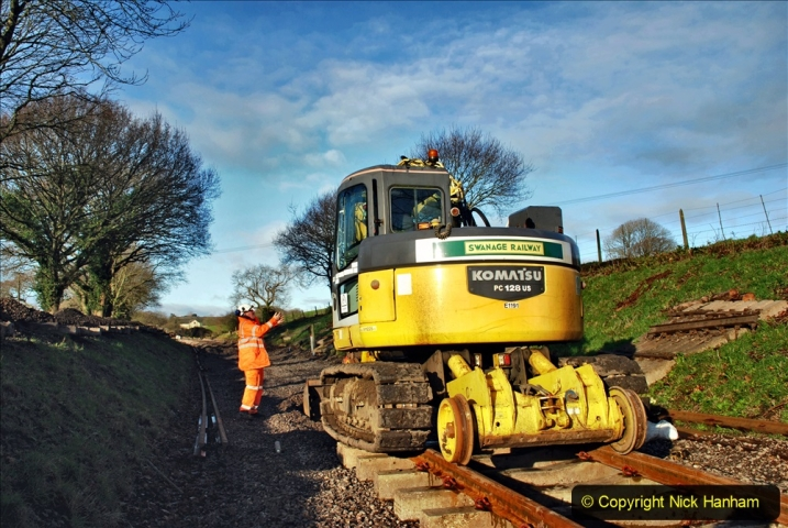2020-01-17 Track renewal Cowpat Crossing to just past Dickers Crossing. (41) Drainage Work. 41