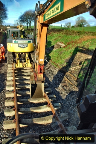 2020-01-17 Track renewal Cowpat Crossing to just past Dickers Crossing. (43) Drainage Work. 43