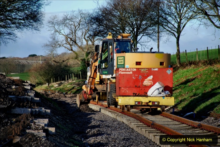 2020-01-17 Track renewal Cowpat Crossing to just past Dickers Crossing. (46) Drainage Work. 46