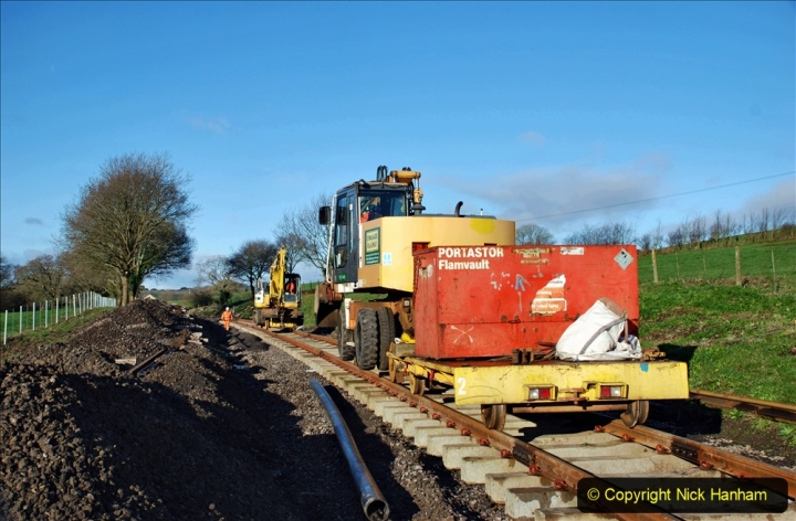2020-01-17 Track renewal Cowpat Crossing to just past Dickers Crossing. (47) Drainage Work. 47