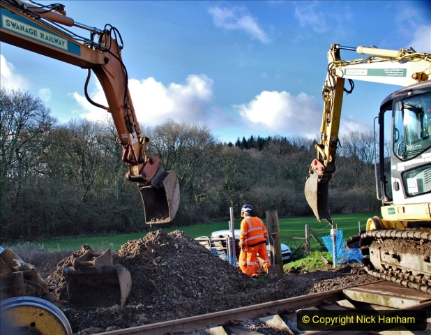 2020-01-17 Track renewal Cowpat Crossing to just past Dickers Crossing. (65) Drainage Work. 65