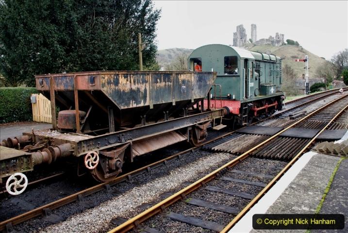 2020-01-24 Track renewall Cowpat Crossing to just past Dickers Crossing. (104) Ballast work. 104