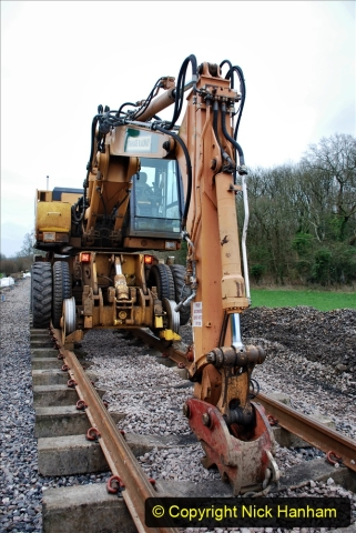 2020-01-24 Track renewall Cowpat Crossing to just past Dickers Crossing. (12) Ballast work. 012