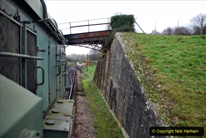 2020-01-24 Track renewall Cowpat Crossing to just past Dickers Crossing. (120) Ballast work. 120