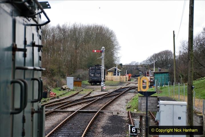 2020-01-24 Track renewall Cowpat Crossing to just past Dickers Crossing. (121) Ballast work. 121