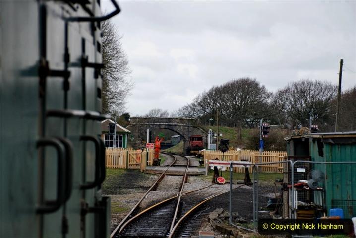 2020-01-24 Track renewall Cowpat Crossing to just past Dickers Crossing. (122) Ballast work. 122