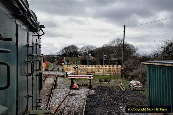 2020-01-24 Track renewall Cowpat Crossing to just past Dickers Crossing. (123) Ballast work. 123