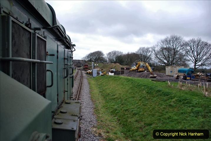 2020-01-24 Track renewall Cowpat Crossing to just past Dickers Crossing. (127) Ballast work. 127