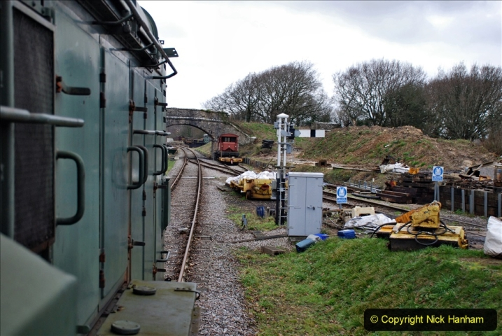 2020-01-24 Track renewall Cowpat Crossing to just past Dickers Crossing. (128) Ballast work. 128