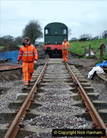 2020-01-24 Track renewall Cowpat Crossing to just past Dickers Crossing. (13) Ballast work. 013