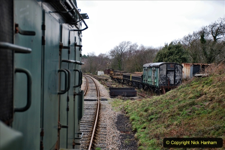 2020-01-24 Track renewall Cowpat Crossing to just past Dickers Crossing. (130) Ballast work. 130