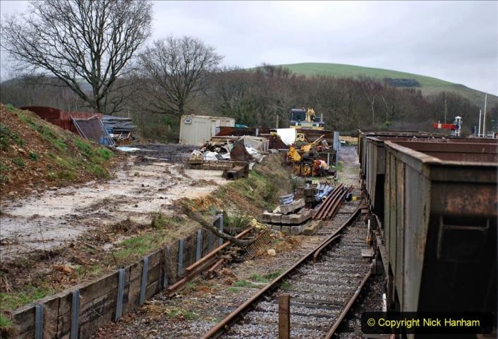 2020-01-24 Track renewall Cowpat Crossing to just past Dickers Crossing. (135) Ballast work. 135
