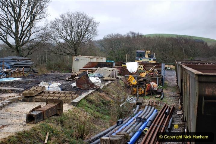 2020-01-24 Track renewall Cowpat Crossing to just past Dickers Crossing. (136) Ballast work. 136