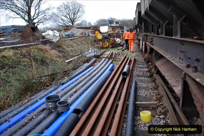 2020-01-24 Track renewall Cowpat Crossing to just past Dickers Crossing. (137) Ballast work. 137