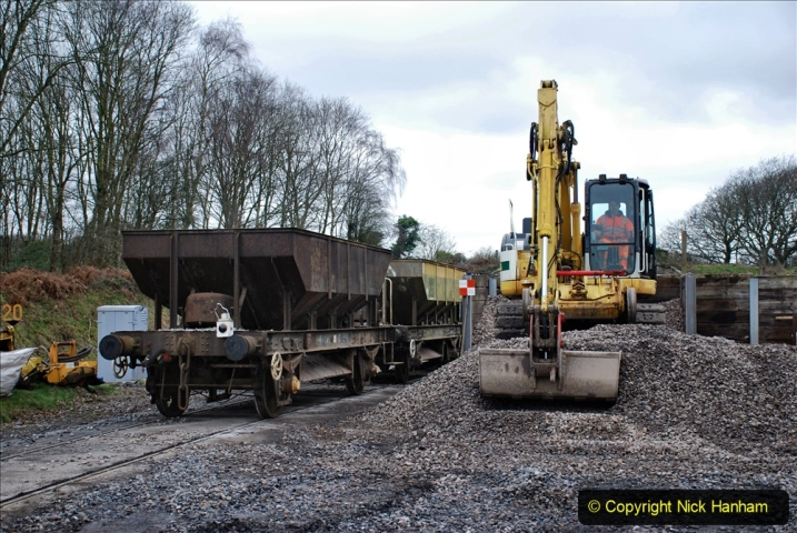2020-01-24 Track renewall Cowpat Crossing to just past Dickers Crossing. (139) Ballast work. 139