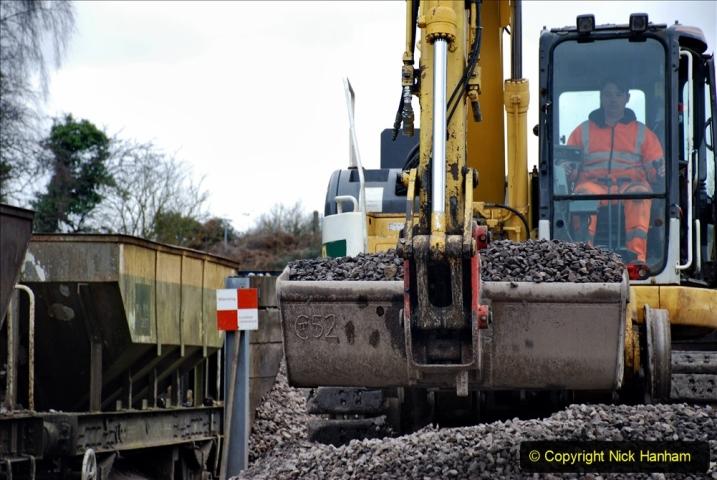 2020-01-24 Track renewall Cowpat Crossing to just past Dickers Crossing. (140) Ballast work. 140