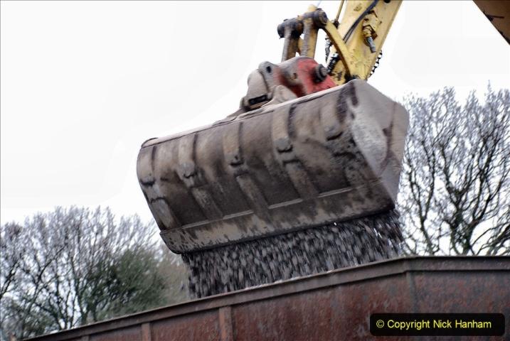 2020-01-24 Track renewall Cowpat Crossing to just past Dickers Crossing. (145) Ballast work. 145