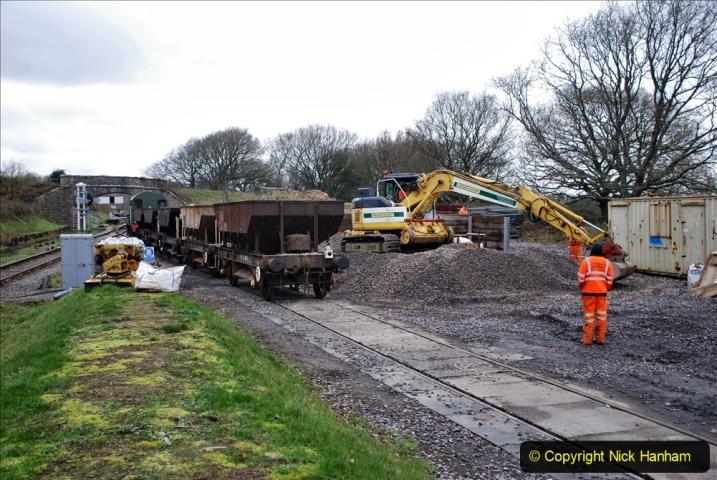 2020-01-24 Track renewall Cowpat Crossing to just past Dickers Crossing. (146) Ballast work. 146