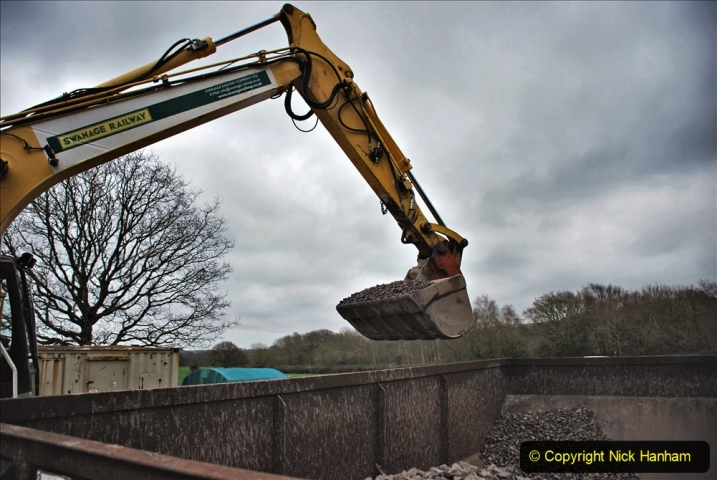 2020-01-24 Track renewall Cowpat Crossing to just past Dickers Crossing. (148) Ballast work. 148