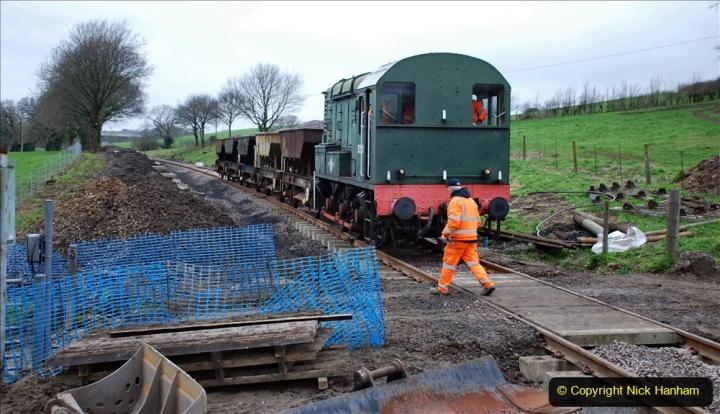 2020-01-24 Track renewall Cowpat Crossing to just past Dickers Crossing. (15) Ballast work. 015