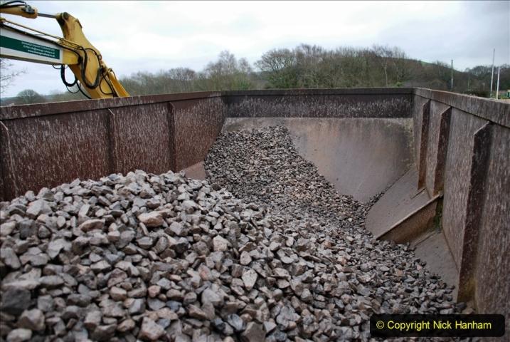 2020-01-24 Track renewall Cowpat Crossing to just past Dickers Crossing. (150) Ballast work. 150