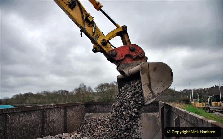 2020-01-24 Track renewall Cowpat Crossing to just past Dickers Crossing. (152) Ballast work. 152