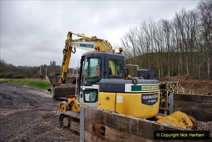 2020-01-24 Track renewall Cowpat Crossing to just past Dickers Crossing. (153) Ballast work. 153