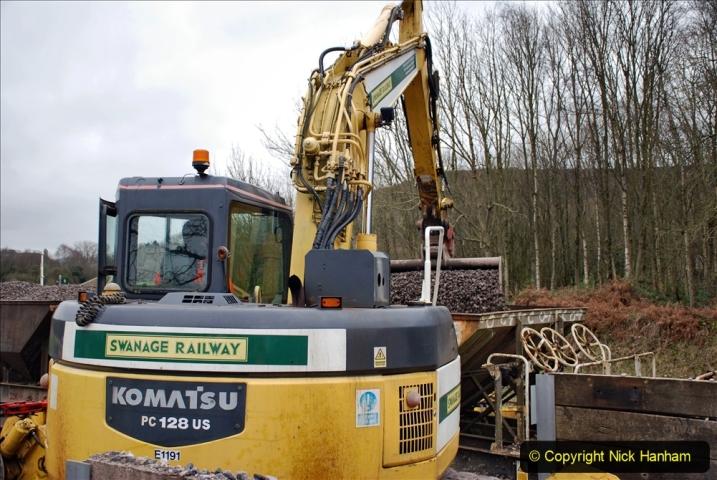 2020-01-24 Track renewall Cowpat Crossing to just past Dickers Crossing. (154) Ballast work. 154