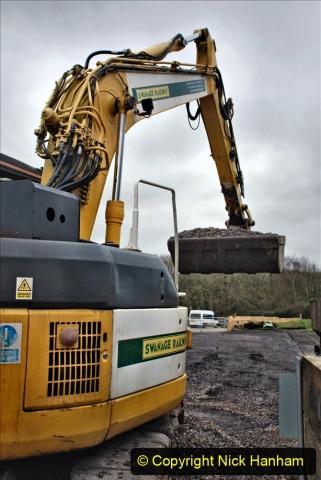 2020-01-24 Track renewall Cowpat Crossing to just past Dickers Crossing. (156) Ballast work. 156