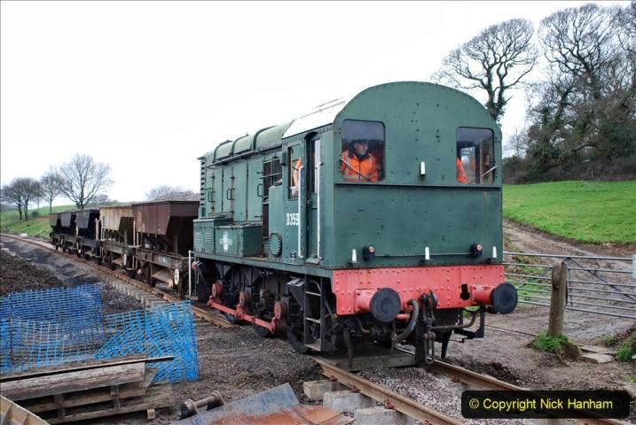 2020-01-24 Track renewall Cowpat Crossing to just past Dickers Crossing. (16) Ballast work. 016