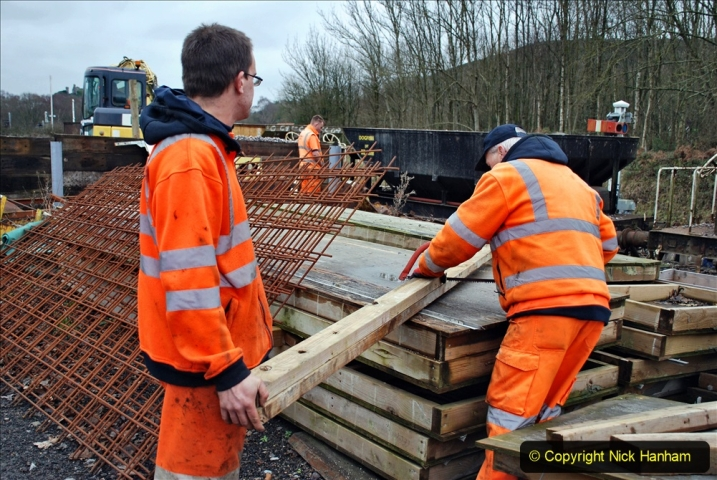 2020-01-24 Track renewall Cowpat Crossing to just past Dickers Crossing. (160) Ballast work. 160