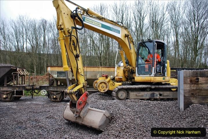 2020-01-24 Track renewall Cowpat Crossing to just past Dickers Crossing. (161) Ballast work. 161