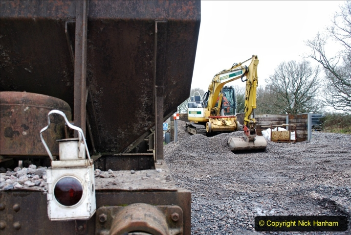 2020-01-24 Track renewall Cowpat Crossing to just past Dickers Crossing. (163) Ballast work. 163