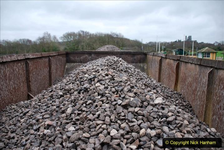 2020-01-24 Track renewall Cowpat Crossing to just past Dickers Crossing. (166) Ballast work. 166