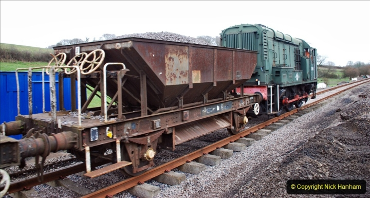 2020-01-24 Track renewall Cowpat Crossing to just past Dickers Crossing. (17) Ballast work. 017