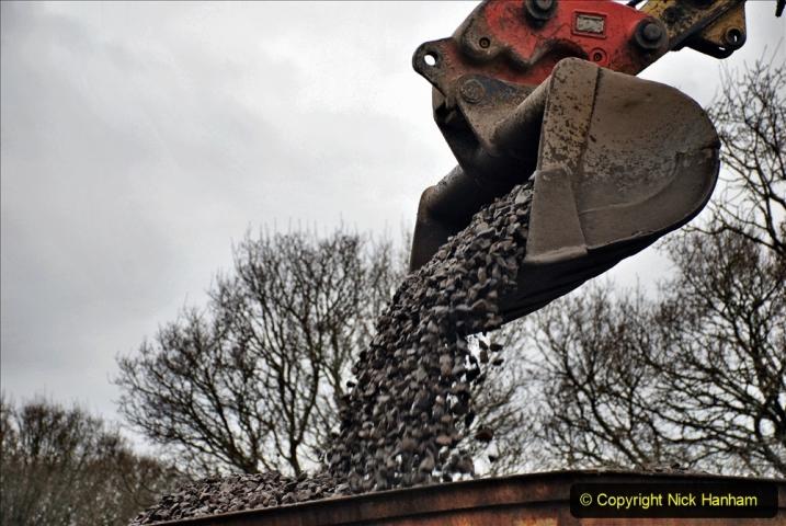 2020-01-24 Track renewall Cowpat Crossing to just past Dickers Crossing. (170) Ballast work. 170