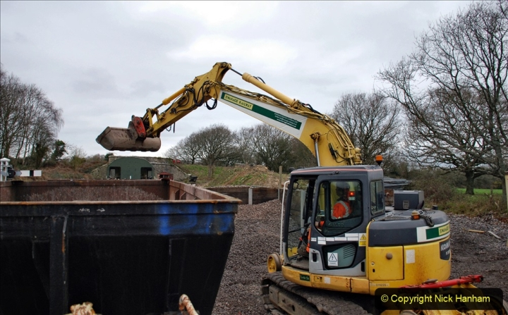 2020-01-24 Track renewall Cowpat Crossing to just past Dickers Crossing. (181) Ballast work. 181