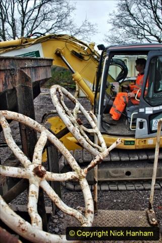 2020-01-24 Track renewall Cowpat Crossing to just past Dickers Crossing. (184) Ballast work. 184