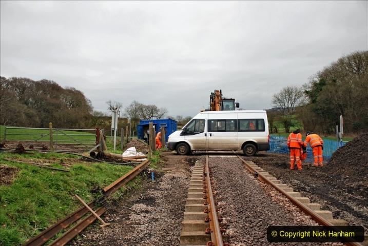2020-01-24 Track renewall Cowpat Crossing to just past Dickers Crossing. (188) Ballast work. 188